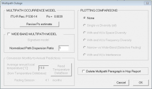 Evaluate Multipath Outage (ITU)